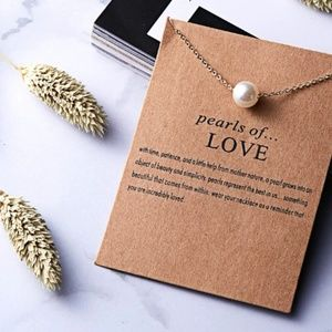 Pearl of Love Boho Layering Gold Charm Necklace